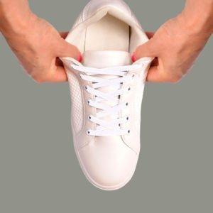 Lacets élastiques blancs
